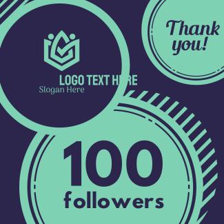 100k Followers Instagram post