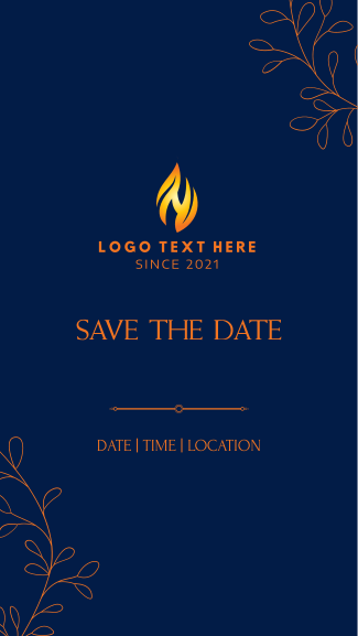 Save the Date Leaves Facebook story