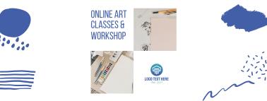 Online Art Classes & Workshop Facebook cover