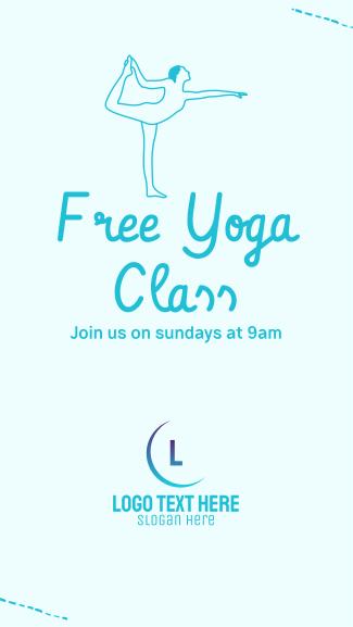 Free Yoga Class Facebook story