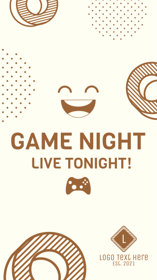 Game Night Live Facebook story