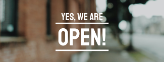 We're Open Business Facebook cover