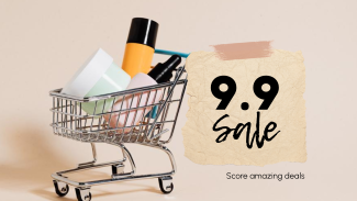 9.9 Sale Shopping Cart Facebook Event Cover