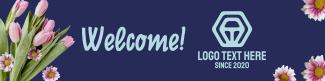 Floral LinkedIn banner