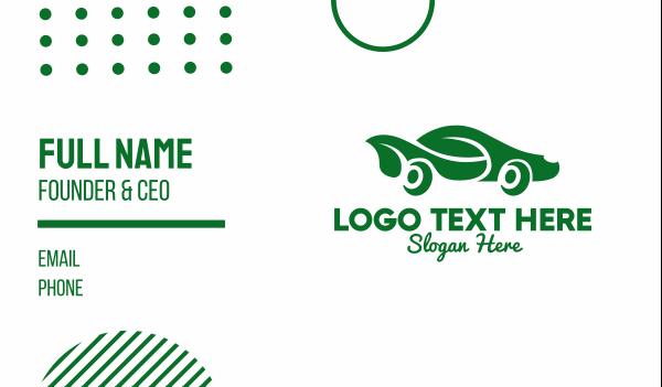 smart car - Green Eco Car Business card horizontal design