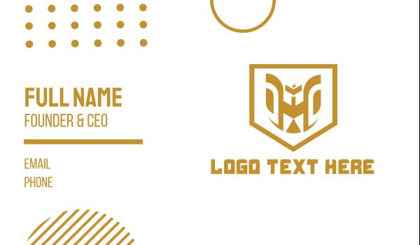 gold shield - Modern Eagle Shield Business card horizontal design