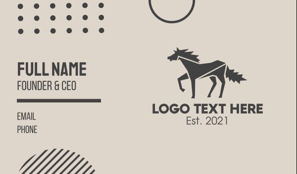 horse brand - Wild Horse Business card horizontal design