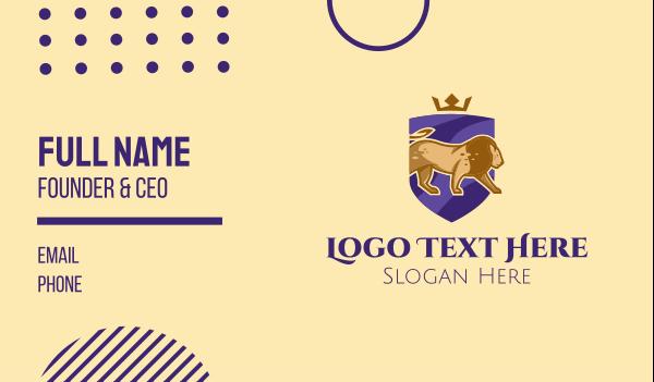 luxurious - Royal Lion Shield  Business card horizontal design