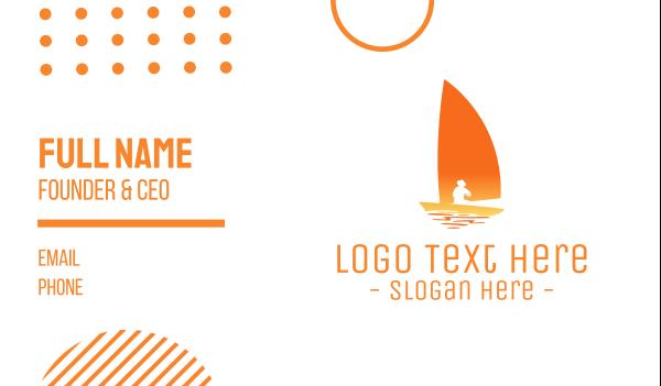 sailing - Sailing Sunset Business card horizontal design