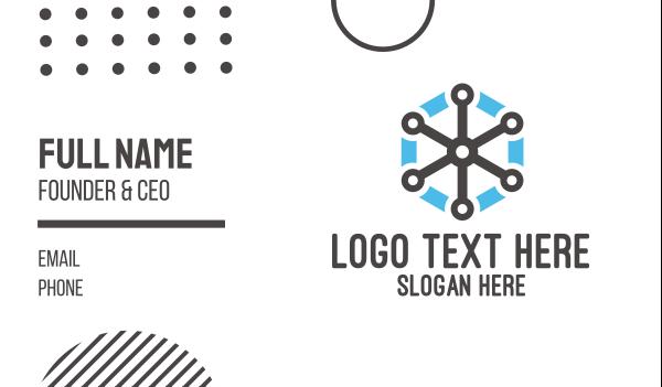 blue drone - Tech Star Business card horizontal design