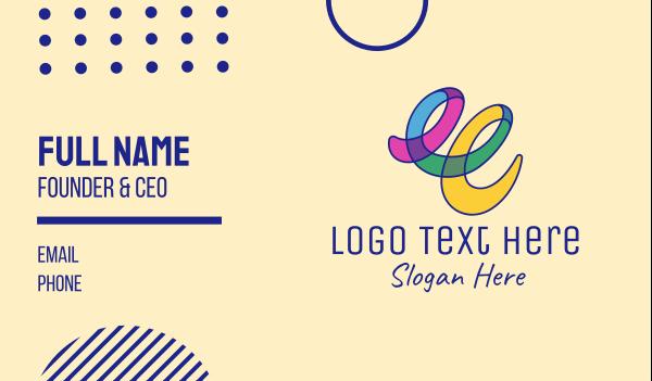 sketching - Colorful Art Scribble Business card horizontal design