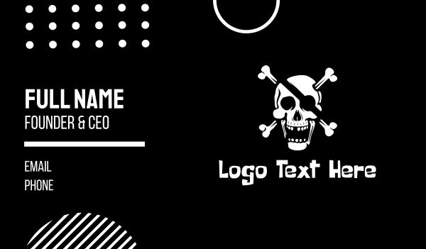 skull and crossbones - Pirate Skull & Crossbones Business card horizontal design
