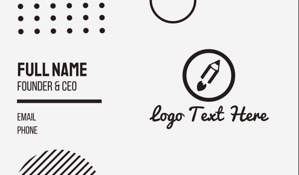wiki - Rocket Pencil Circle Business card horizontal design