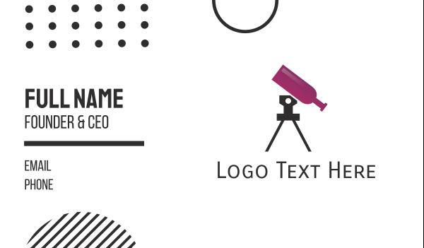 telescope - Wine Telescope Business card horizontal design