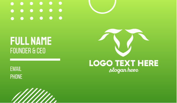 horns - El Torro Business card horizontal design