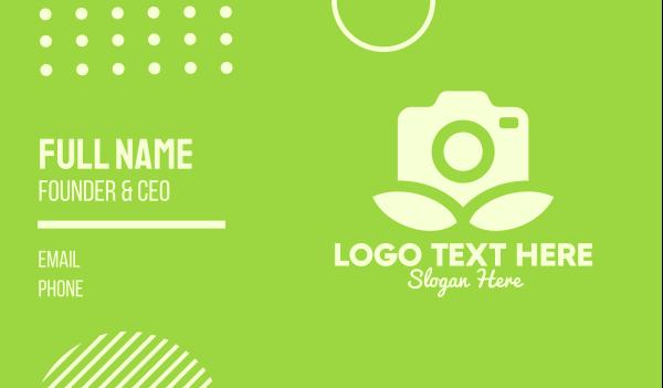 camera shop - Camera Leaves Business card horizontal design