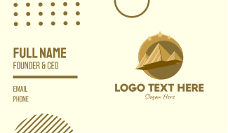 Gold Pyramid Travel  Business Card