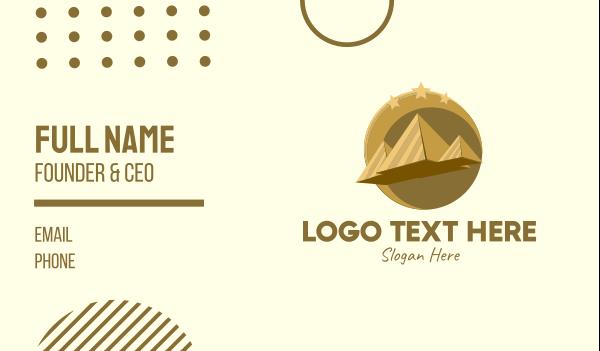 desert - Gold Pyramid Travel  Business card horizontal design