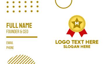 Award Lettermark Business Card