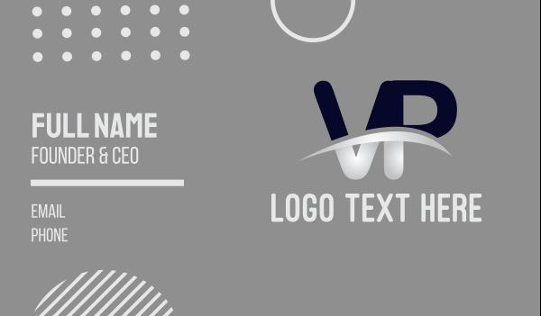 enterprise - Letter VP Strikethrough Business card horizontal design