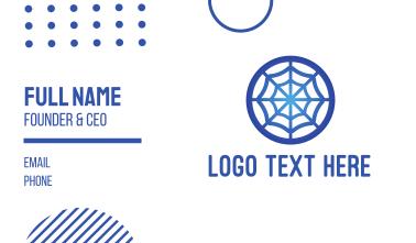 Blue Web Letter O Business Card
