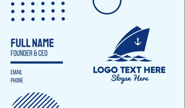 cruise ship - Anchor Cruise Ship Business card horizontal design
