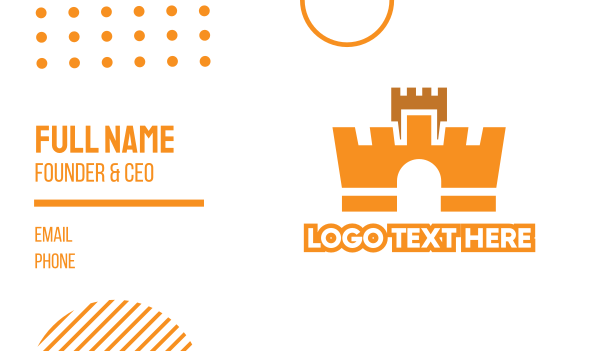 wall - Crown Fortress Business card horizontal design