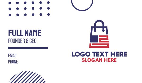 outlet store - Modern US Shopping Bag Business card horizontal design