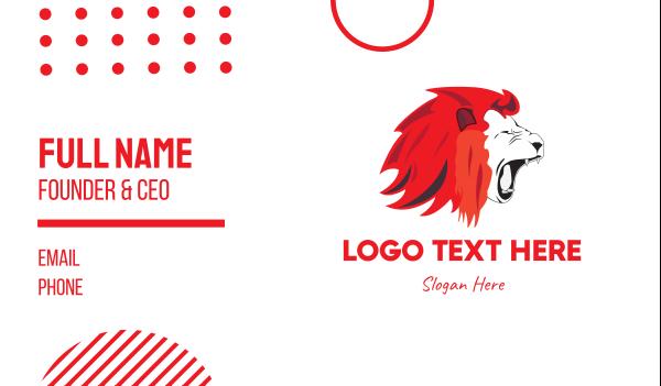 singapore - Red Lion Roar Business card horizontal design