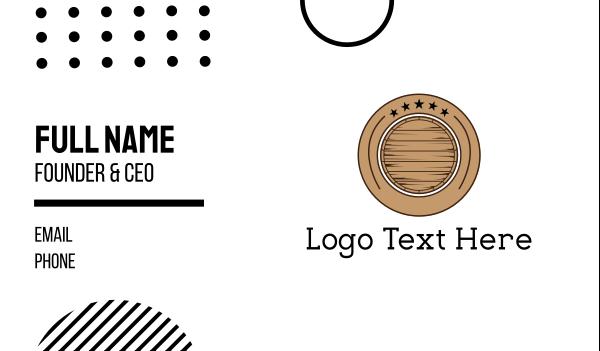 barrel - Barrel Circle Business card horizontal design