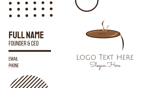 cocoa - Hot Chocolate  Business card horizontal design