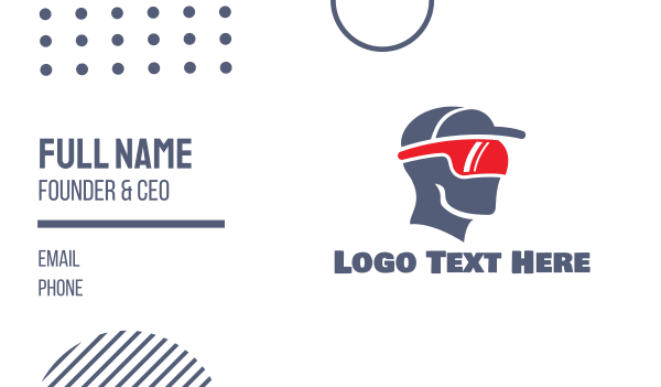 cap - VR Sports Athlete Business card horizontal design