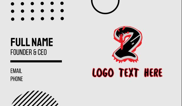 bullet hole - Splatter Graffiti Number 2 Business card horizontal design