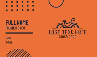 Simple Bicycle Bike Business Card