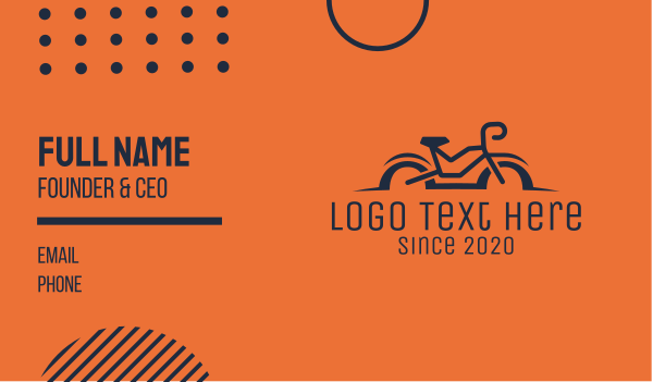 bike trail - Simple Bicycle Bike Business card horizontal design