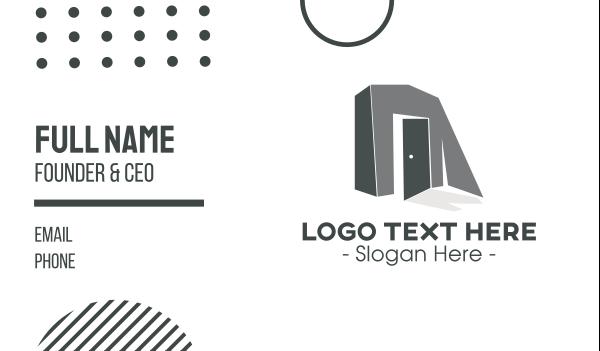 room - Monochromatic Door Business card horizontal design