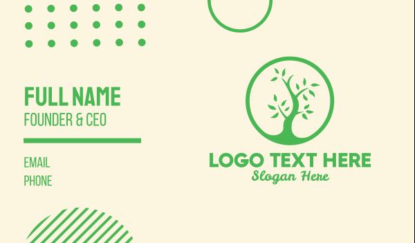 green living - Plant Growth Business card horizontal design