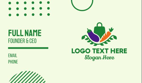 carrot - Vegetable Grocery Market Shop Business card horizontal design