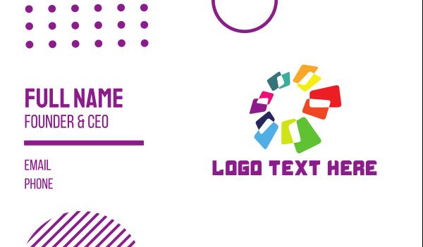 software developement - Tech Flower Business card horizontal design