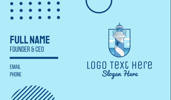 tourist destination - Coastal Lighthouse Tower Business card horizontal design