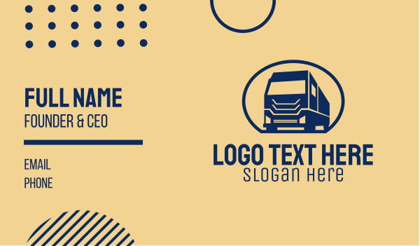 logistic services - Big Cargo Truck Business card horizontal design
