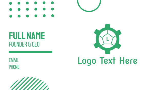 green turtle - Cog Turtle  Business card horizontal design