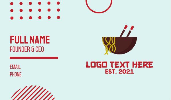 noodles - Oriental Noodles Restaurant Business card horizontal design