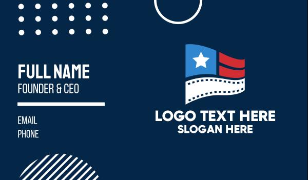 documentary - Entertainment Film Flag  Business card horizontal design
