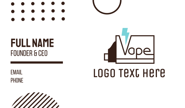 nicotine - Thunder Vapes Business card horizontal design
