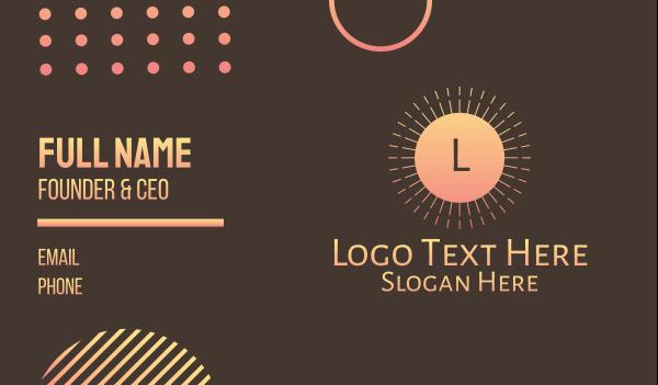 sunray - Elegant Hotel Letter Business card horizontal design