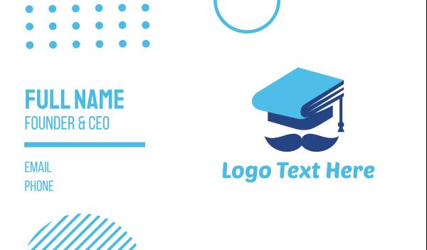 graduation - Education Graduation Hat Man Business card horizontal design