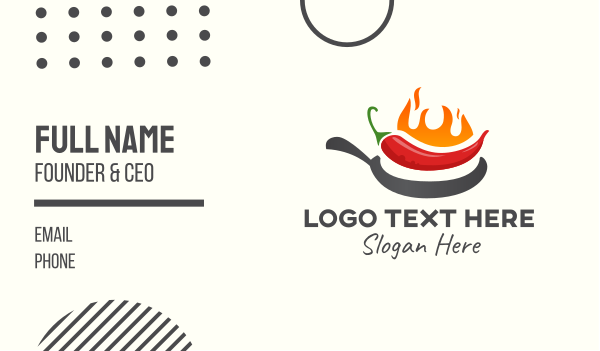 chili pepper - Spicy Chili Flames Cooking Business card horizontal design