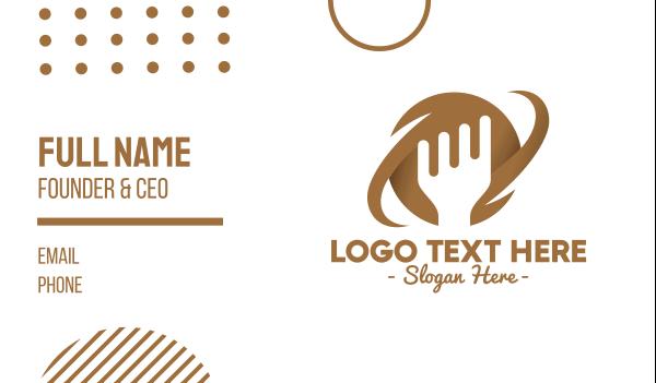 brown fork - Brown Fork Planet Business card horizontal design