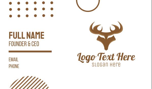 antlers - Strong Deer Business card horizontal design